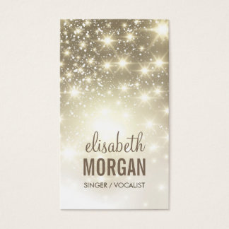 Singer / Vocalist - Shiny Gold Sparkles Business Card