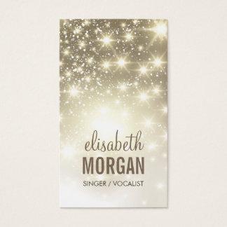 Singer / Vocalist - Shiny Gold Sparkles Business Card