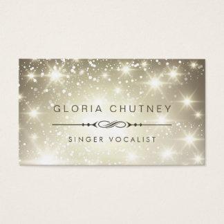 Singer / Vocalist - Sparkling Bokeh Glitter Business Card