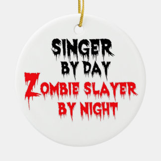Singer Zombie Slayer Christmas Ornament