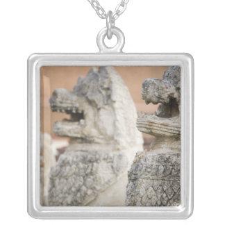 Singhat Wat Thammikarat 2 Silver Plated Necklace