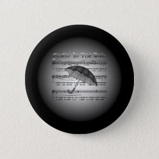 Singin' In The Rain ~ Umbrella ~ Sheet Music 6 Cm Round Badge