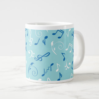 Singin the Blues Musical Pattern Jumbo Mug
