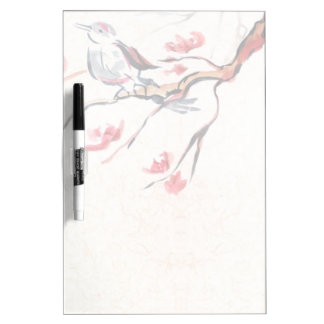 Singing Bird Background Dry Erase Board