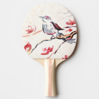 Singing Bird Background Ping Pong Paddle