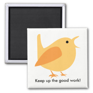Singing Bird Magnet, Square Magnet