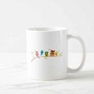 Singing Birds Basic White Mug