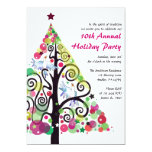 Singing Birds Christmas Holiday Party Invitation