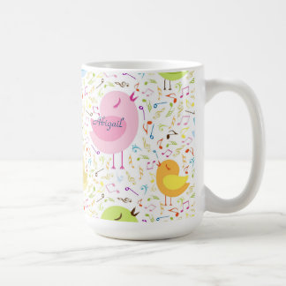 Singing Birds with Musical Notes Personalized Mug