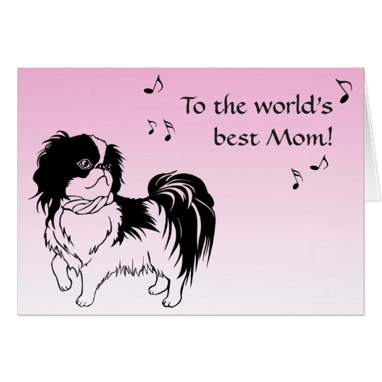 Singing Black and White Dog Pink Mothers Day
