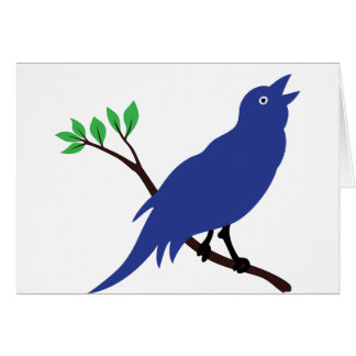 Singing Bluebird Card