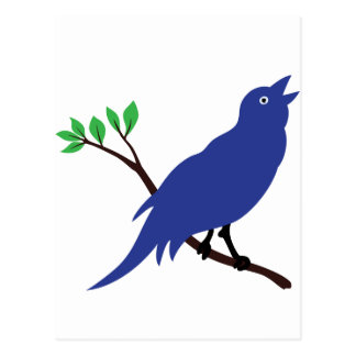 Singing Bluebird Postcard