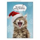 Singing Cat Christmas Card