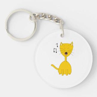 Singing Cat. Key Ring