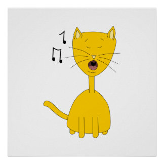 Singing Cat. Poster
