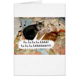 Singing Cats Greeting Card