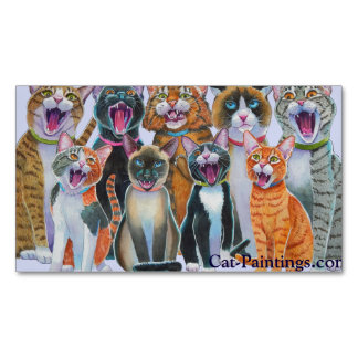 Singing Cats Magnets Cat-Paintings.com Magnetic Business Cards