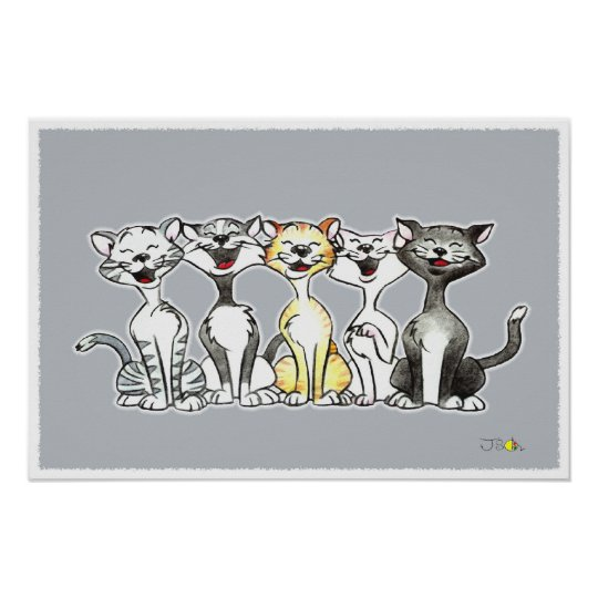 Singing Cats Poster