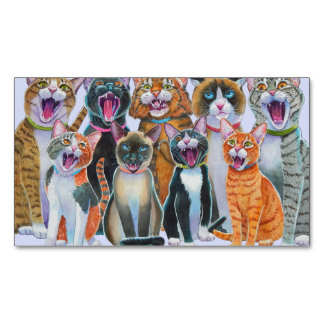 Singing Cats Refrigerator Magnets Magnetic Business Cards