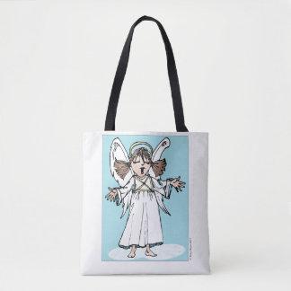 Singing Christmas Angel tote bag