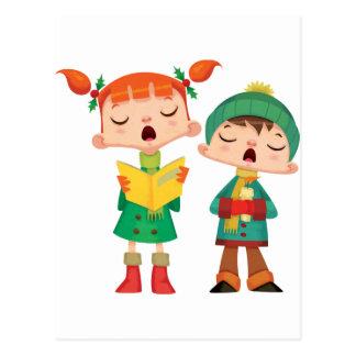Singing Christmas Carols Post Card