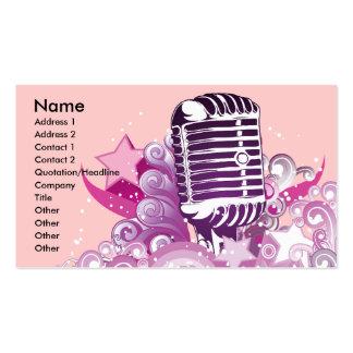 singing diva vintage microphone vector pack of standard business cards