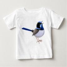 Singing Fairy Wren Bird Baby Jersey Shirt