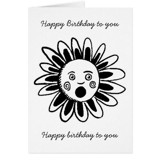 Singing Flower - Happy Birthday Song Greeting Card