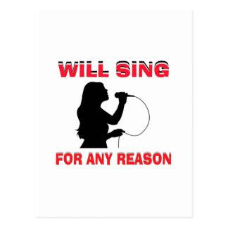SINGING GIRL POSTCARD