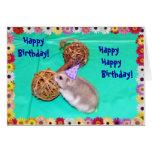 Singing Hamster-Gram Birthday Wishes Greeting Card