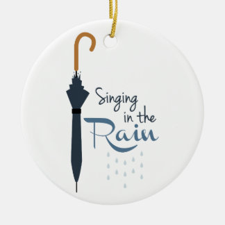 Singing in the Rain Christmas Ornament
