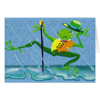 singing in the rain frog card