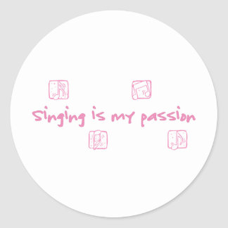 Singing is my passion stickers