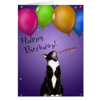 Singing Kitty Birthday Card