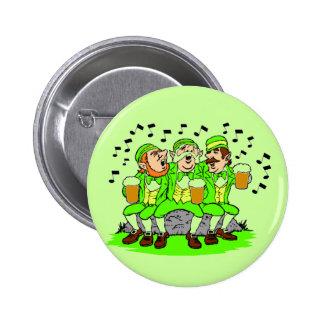 Singing Leprechauns Button