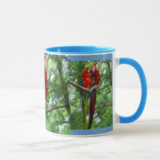 Singing Macaws Large Mug