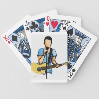 Singing Man with Guitar sketch Bicycle Poker Deck