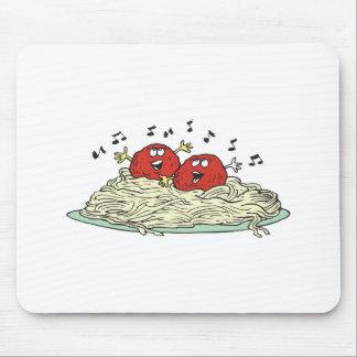 singing meatballs on spaghetti mouse pad