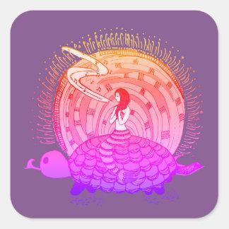 Singing Mermaid Square Sticker