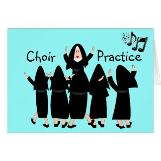 "Singing Nuns ""Choir Practice"" Note Cards-Adorable Note Card"
