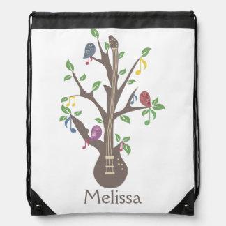 Singing owls-Drawstring Backpack