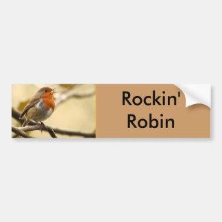 Singing Robin Bumper Sticker