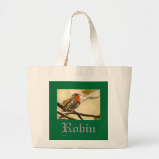 Singing Robin Canvas Bag