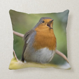 Singing Robin Designer Cushion