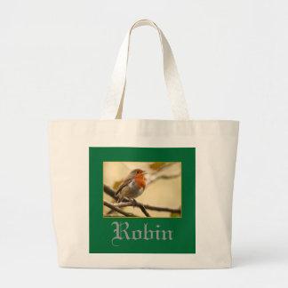 Singing Robin Jumbo Tote Bag