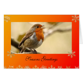 Singing Robin Template Christmas Card
