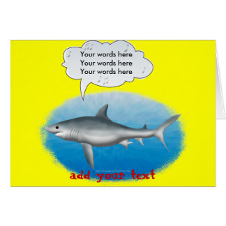 Singing Shark Greeting Cards