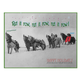 Singing Sled Dogs: SItka Alaska Malamute Choir Postcard