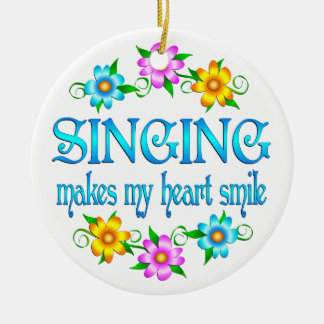 Singing Smiles Christmas Ornament