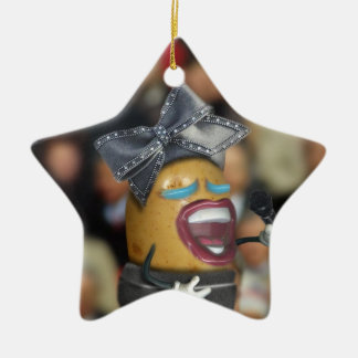 Singing Spud Double-Sided Star Ceramic Christmas Ornament